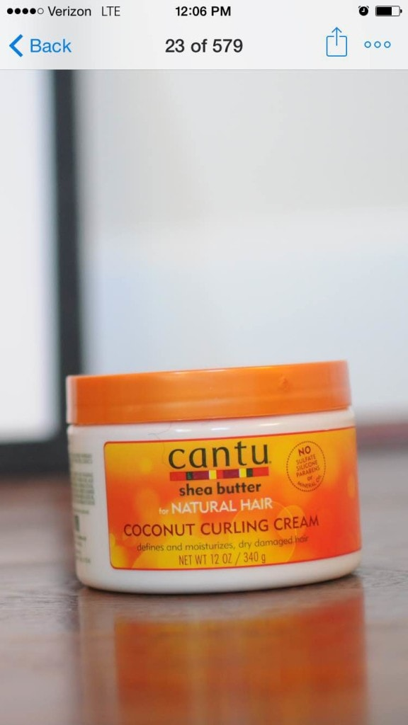 Product Favorite…Cantu Shea Butter Coconut Curling Cream