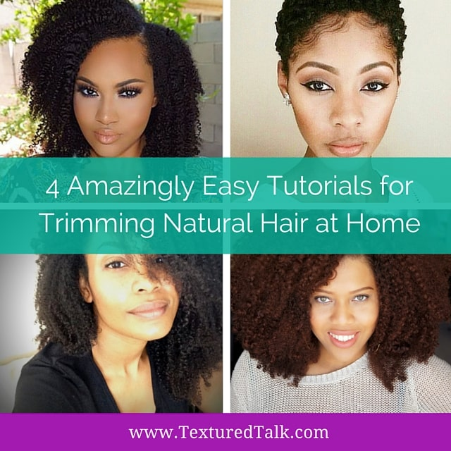 4 Easy Ways To Trim Natural Hair At Home
