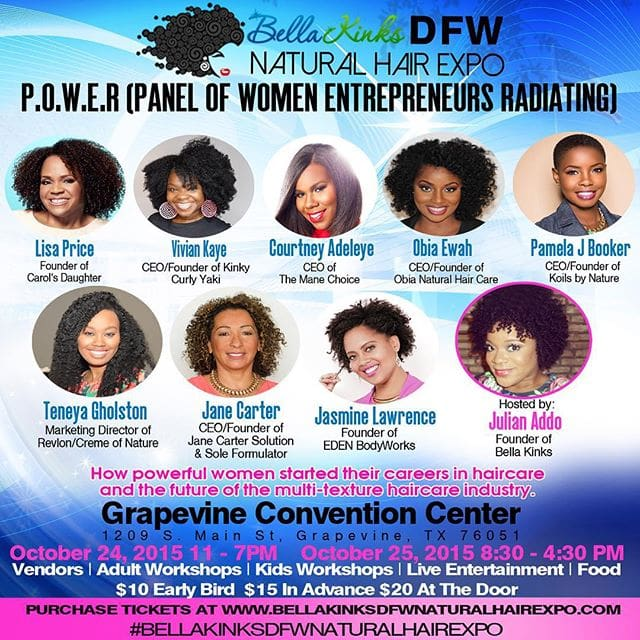Bella Kinks DFW Natural Hair Expo POWER Panel
