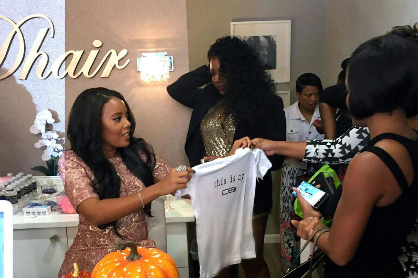 Angela Simmons Talks Hair & Her New SEA Collection With DHair Boutique of Dallas