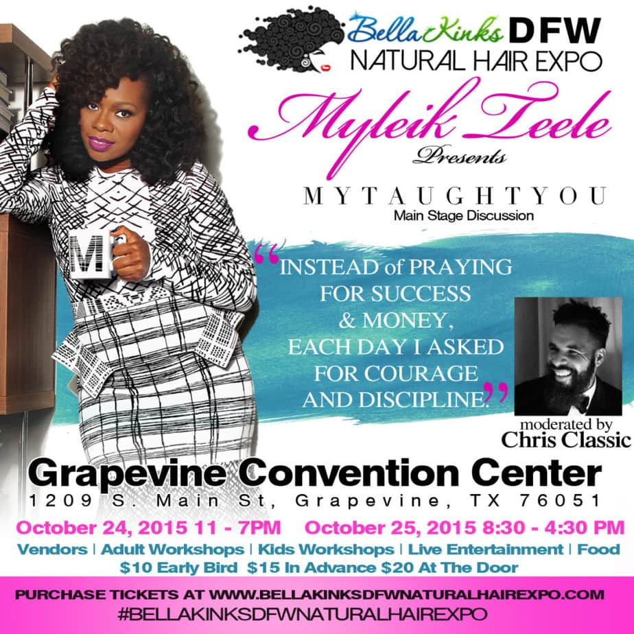 Myleik Teel Bella Kinks DFW Natural hair expo