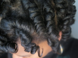 dry perm rods on natural hair