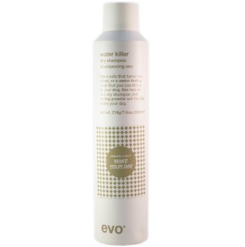evo water killer dry shampoo a Dry shampoo the secret is you don't have to shampoo everyday for those occasions between shampoos when you either don't have time for a full wash or would like to get an extra day or two out of that professional blow-dry absorb excess oils, enhance overall texture, build bulk and leave hair refreshed and clean.