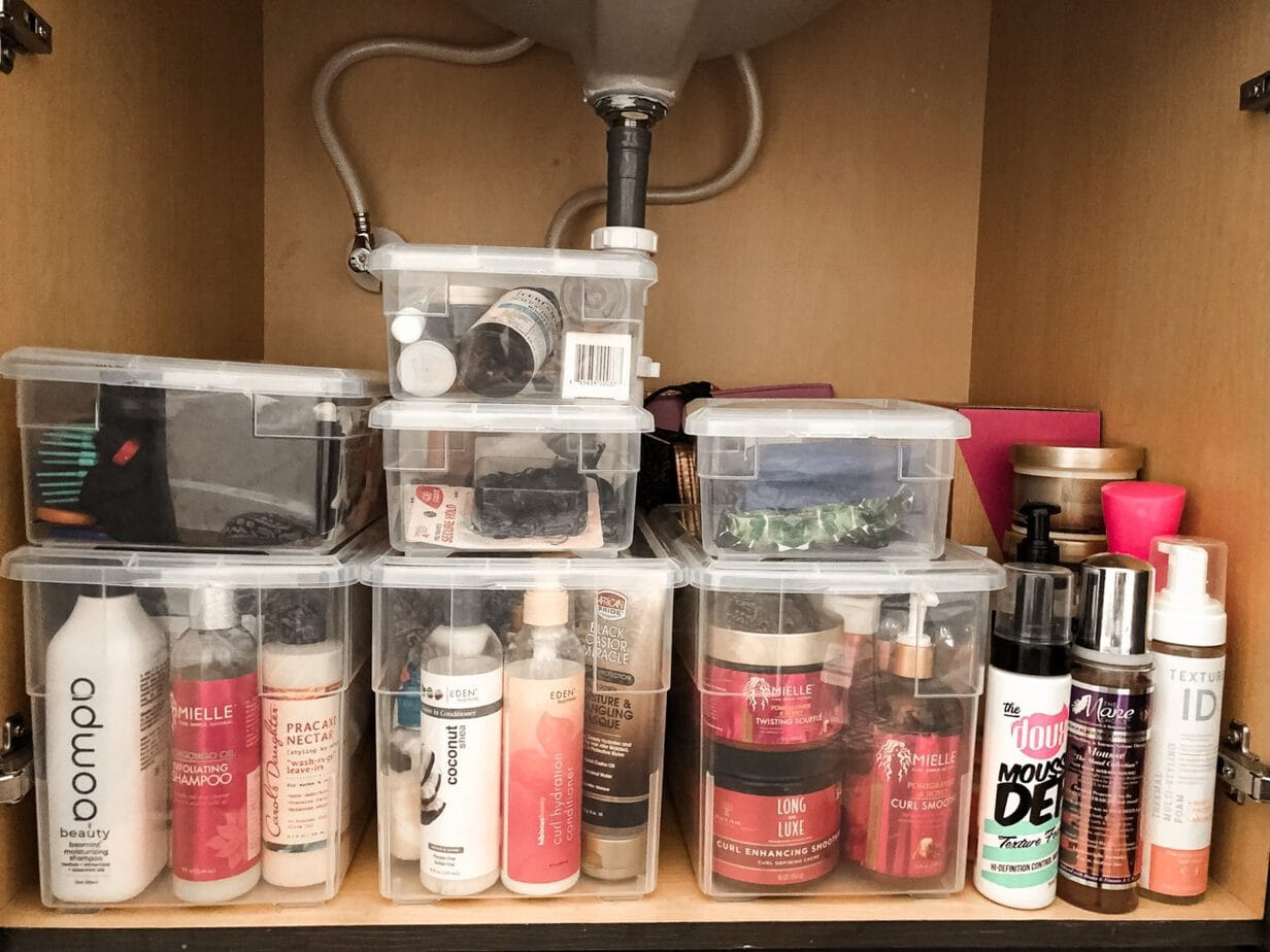 How to Organize Your Hair Products for Only $30!