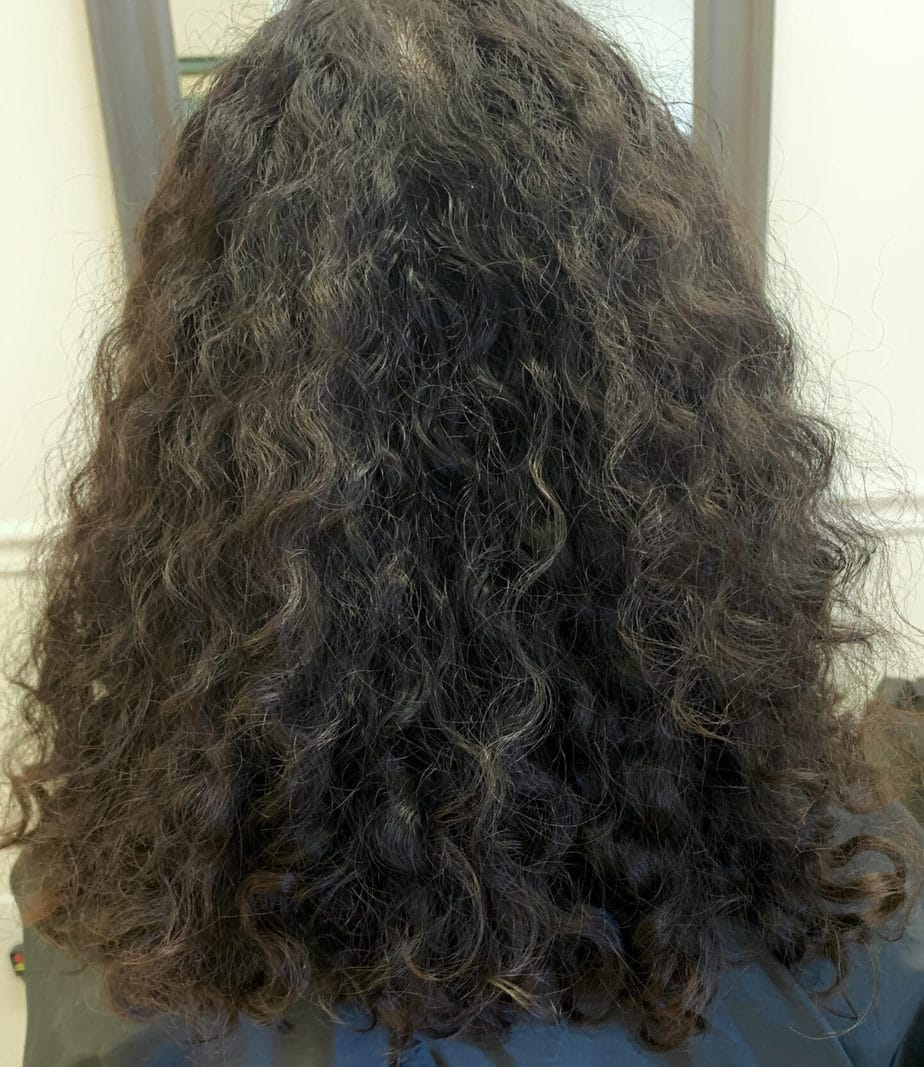 Devacut on wavy hair